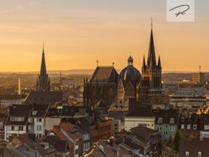 Aachener Dom am morgen