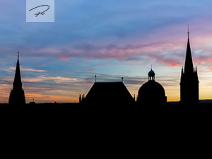 Aachener Dom Silhouette