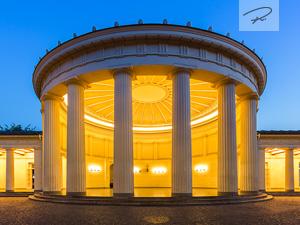 Elisenbrunnen Aachen zur blauen stunde