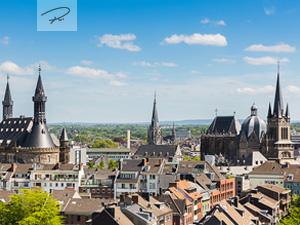 Aachener Dom und Rathaus