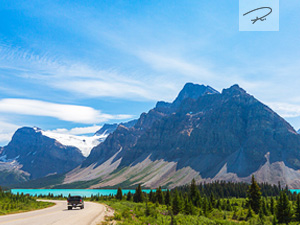 Bow Lake Highway im Banff National Park, Kanada
