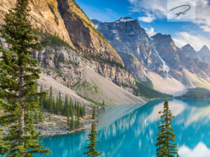 Moraine Lake panorama, Banff National Park, Alberta, Kanada