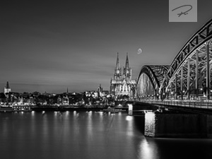 Kölner Altstadt Schwarz / Weiß