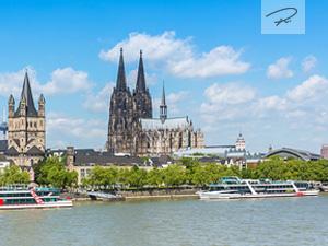 Stadt Köln im Frühling