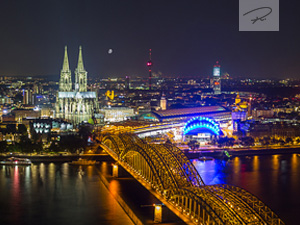 K�ln Nacht Skyline Panorama