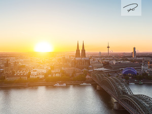 Sonnenblick auf Köln am Rhein