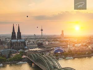 Mit dem heißluftballon über Köln
