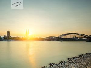 Köln Sunset Silhouette