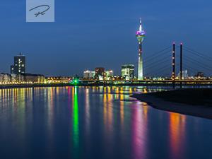 D�sseldorf nacht Skyline