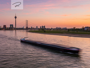 Düsseldorf im Sonnenuntergang