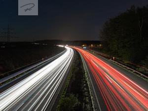 Autobahn - Lighttrails