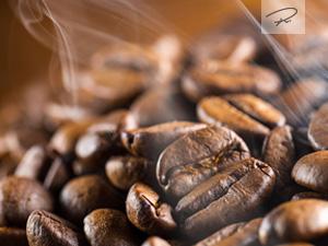frisch ger�stete Kaffeebohnen