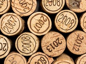Weinkorken Jahrgänge