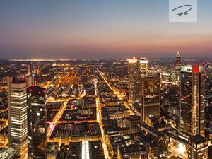 Frankfurt Nacht Skyline Panorama