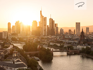 Frankfurt Sunset Skyline
