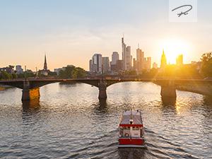 Sonnenuntergang in Frankfurt