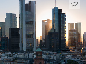 Frankfurt sunset Evening