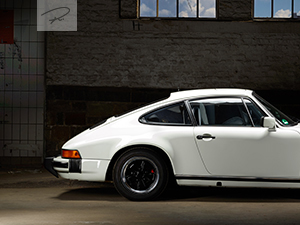 Porsche 911 weiss youngtimer