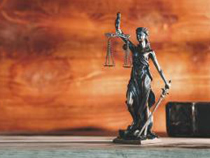 statue of Justice - lady justice or Iustitia / Justitia the Roman goddess of Justice in a lawyer office, banner size including copy space : Stockfoto oder Stockvideo und Fotos, Bilder, Stockmedien von rcfotostock | RC-Photo-Stock