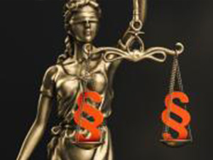 The Statue of Justice - lady justice or Iustitia / Justitia the Roman goddess of Justice with paragraph signs in scale, law concept image, banner size : Stockfoto oder Stockvideo und Fotos, Bilder, Stockmedien von rcfotostock | RC-Photo-Stock