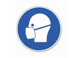Wear a face mask. Wear dust mask, mandatory sign or safety sign, on white background. Vector illustration. Eps 10 vector file. : Stockfoto oder Stockvideo und Fotos, Bilder, Stockmedien von rcfotostock | RC-Photo-Stock
